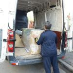 Duba in descarcare, dupa transport